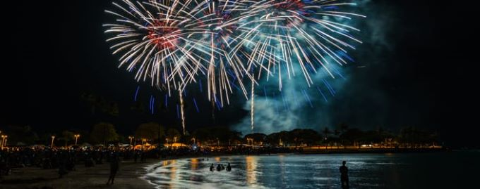 Hawaii, Pacific new year celebration