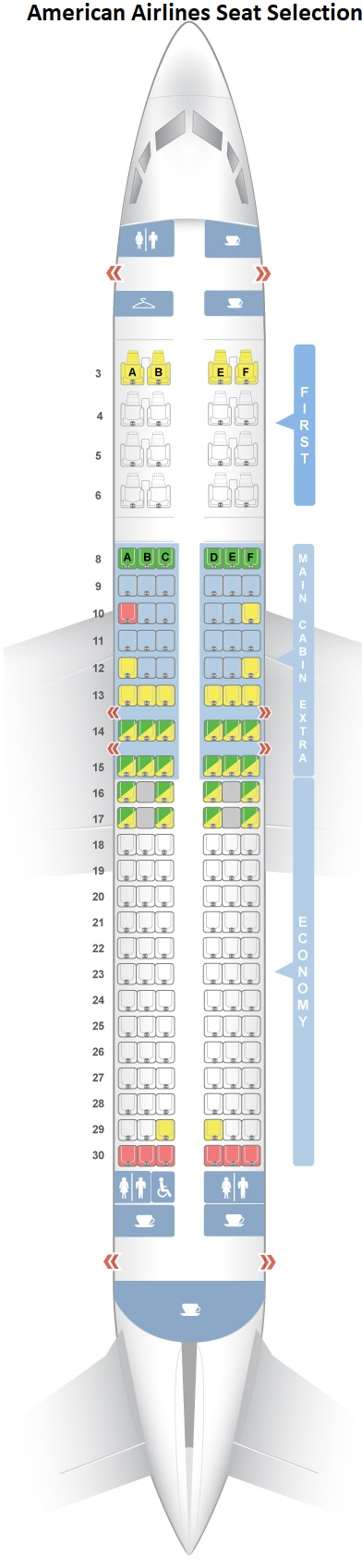American Airlines Seat Selection